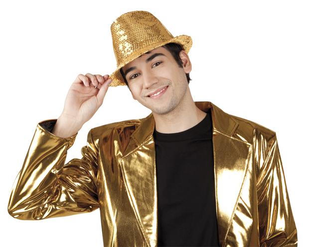 Hoed popstar goud-0