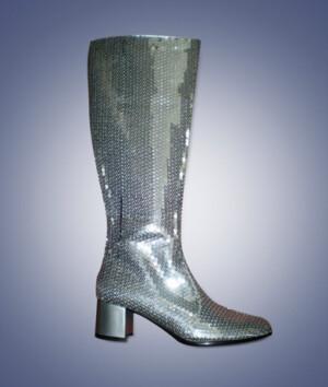 Laarzen Pailletten zilver-0