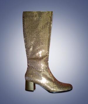 Laarzen Pailletten goud-0