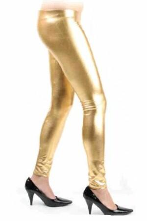 Legging metallic goud mt. S/M-0