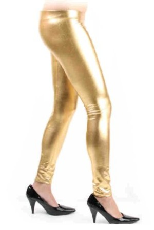 Legging metallic goud mt. L/XL-0