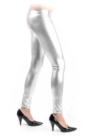 Legging metallic zilver mt. S/M-0