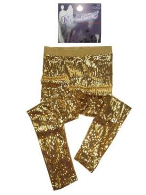Pailletten stretch legging vol goud mt. L/XL-0