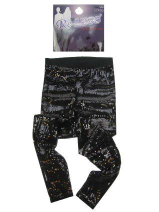 Pailletten stretch legging vol zwart mt. L/XL-0