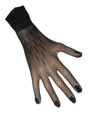 Nethandschoenen + vingers zwart kort-0