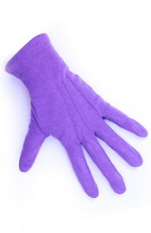 Handschoen Sint paars kort katoen L 26cm-0