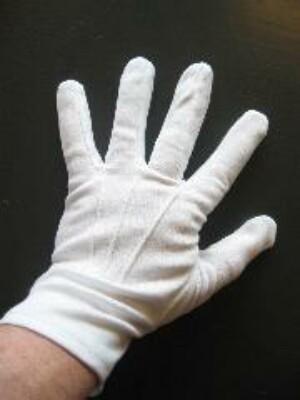 Witte handschoenen katoen de luxe (Sint) mt. M-0
