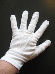 Witte handschoenen katoen de luxe (Sint) mt. L-0