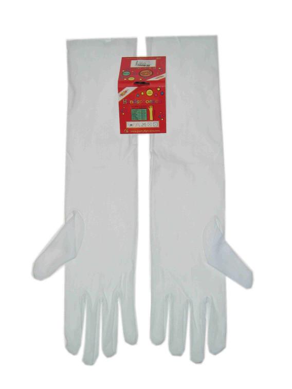 Handschoenen stretch wit luxe nylon 50 cm mt. XXL-0