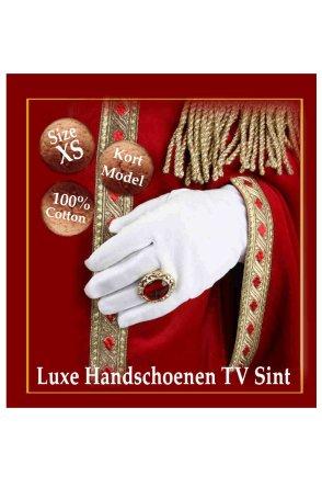 Luxe handschoen 100% katoen (Sint) mt. XS-0