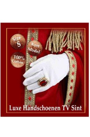 Luxe handschoen 100% katoen (Sint) mt. S-0