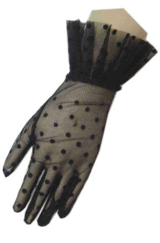 Handschoen kant kort zwart-0