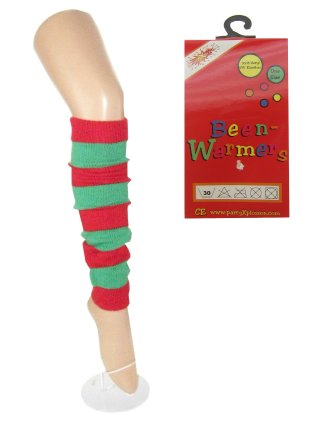 Beenwarmers groen/rood mt. one size-0