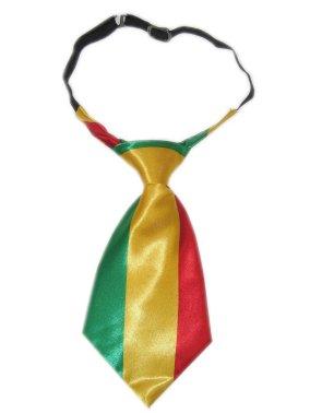 Stropdas kort model rood/geel/groen-0