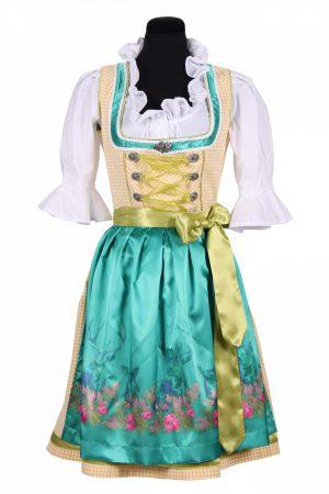 Dirndl jurk turquoise / wit christina