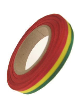 Medaille lint rood/geel/groen 25 mtr op rol 10 mm-0