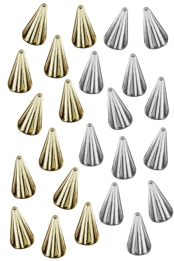 Spikes / studs goud en zilver 30 stuks-0