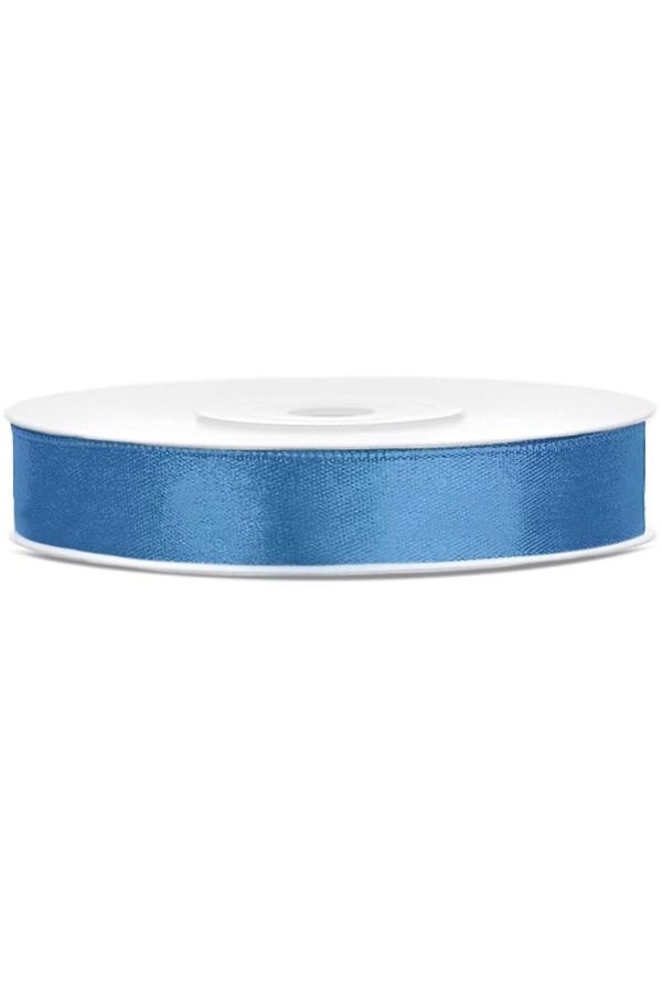 Satin Ribbon lint 12 mm , rol 25 meter kleur: Blauw-0