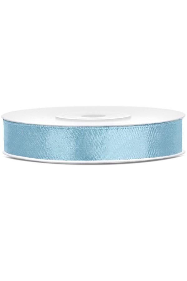 Satin Ribbon lint 12 mm,  rol 25 meter kleur: Hemel blauw-0