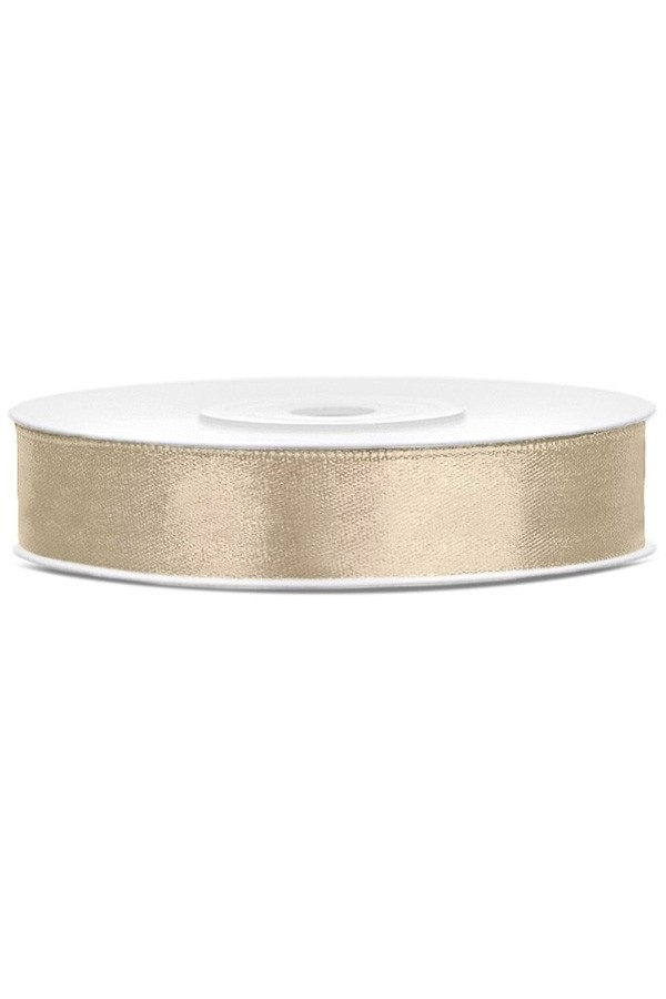 Satin Ribbon lint 12 mm,  rol 25 meter kleur: Warm grijs-0