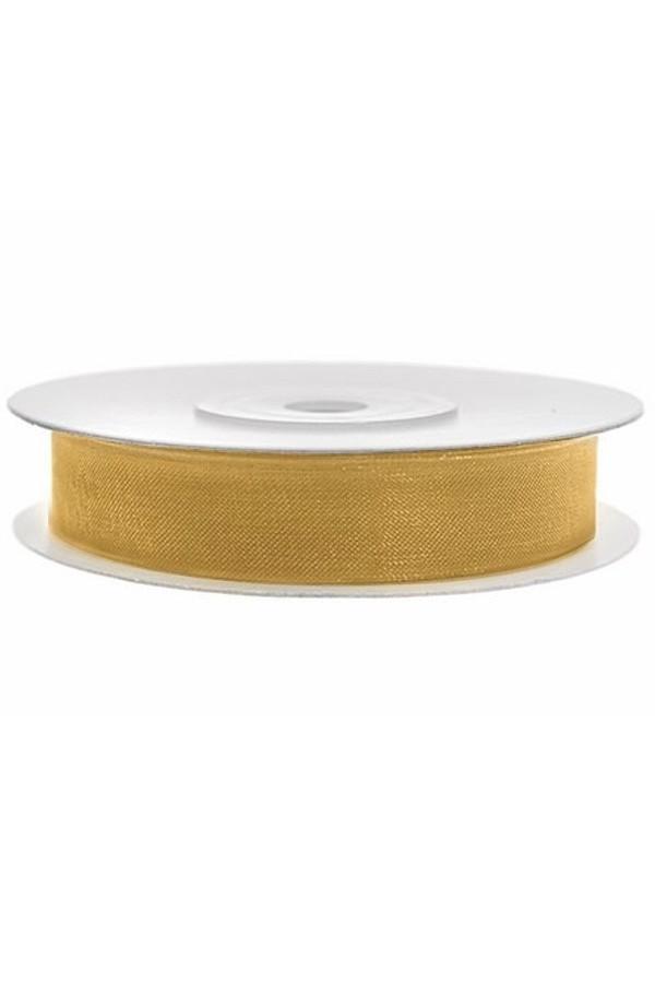 Satin Ribbon lint 12 mm,  rol 25 meter kleur: Goud-0