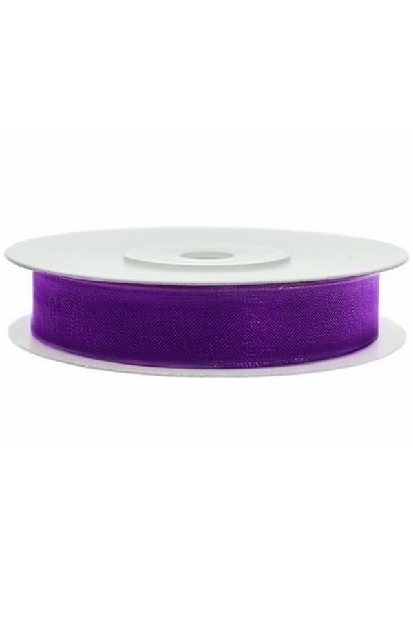 Satin Ribbon lint 12 mm,  rol 25 meter kleur: Paars-0