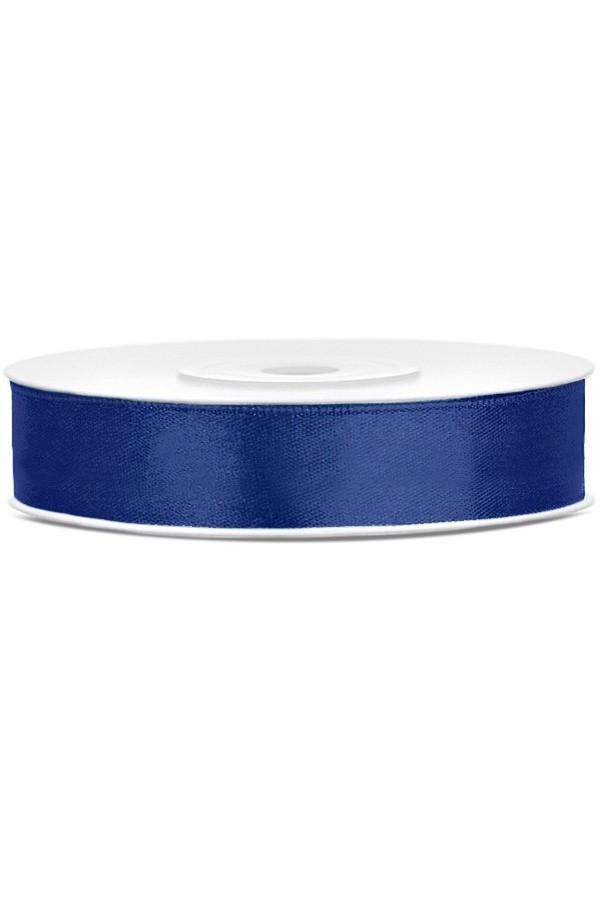 Satin Ribbon lint 12 mm,  rol 25 meter kleur: Royal blauw-0