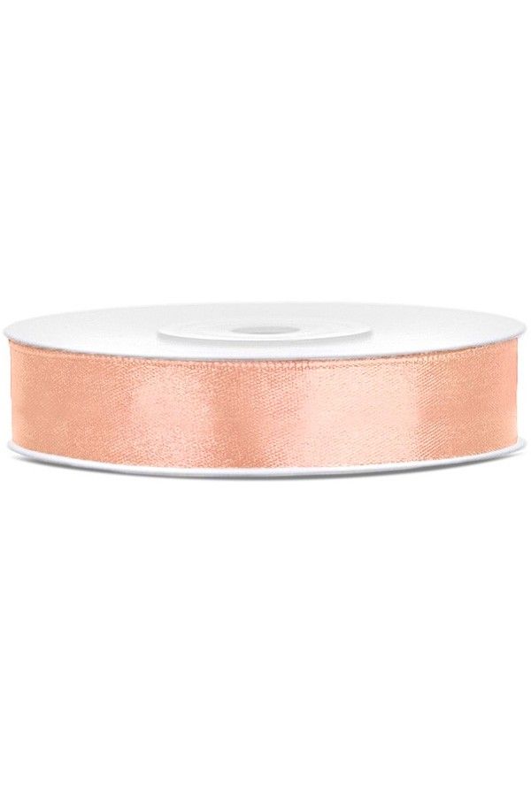 Satin Ribbon lint 12 mm,  rol 25 meter kleur: Peach-0