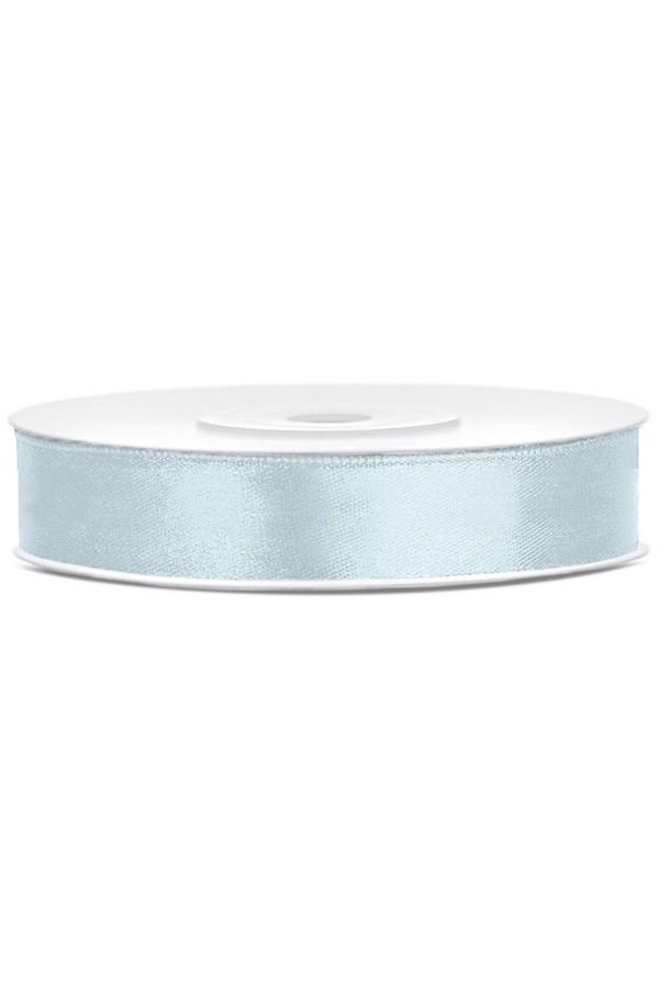 Satin Ribbon lint 12 mm,  rol 25 meter kleur: Misty blauw-0