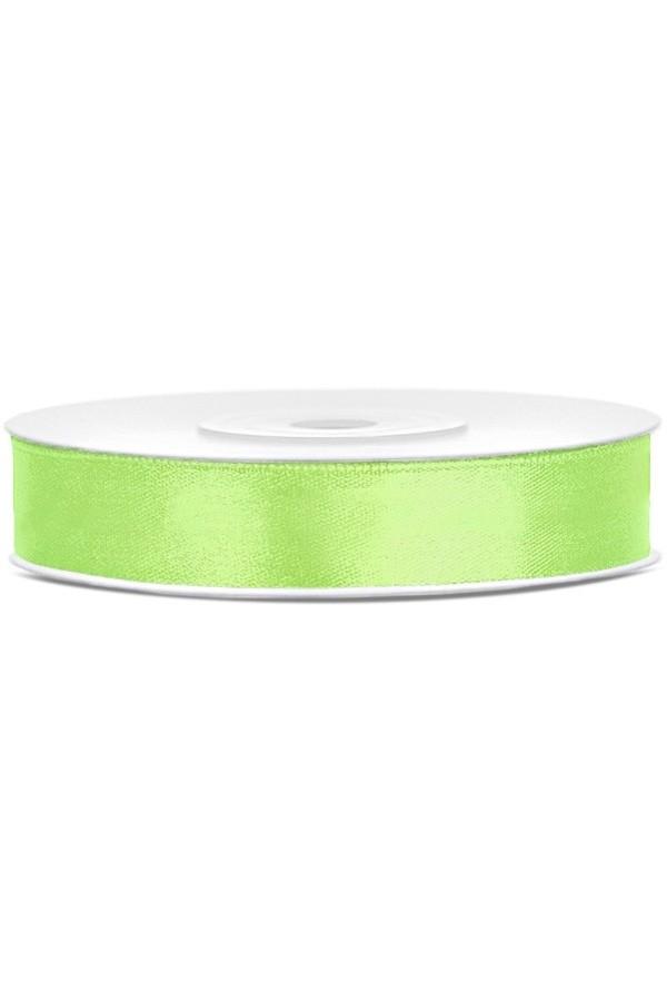 Satin Ribbon lint 12 mm,  rol 25 meter kleur: Appel groen-0