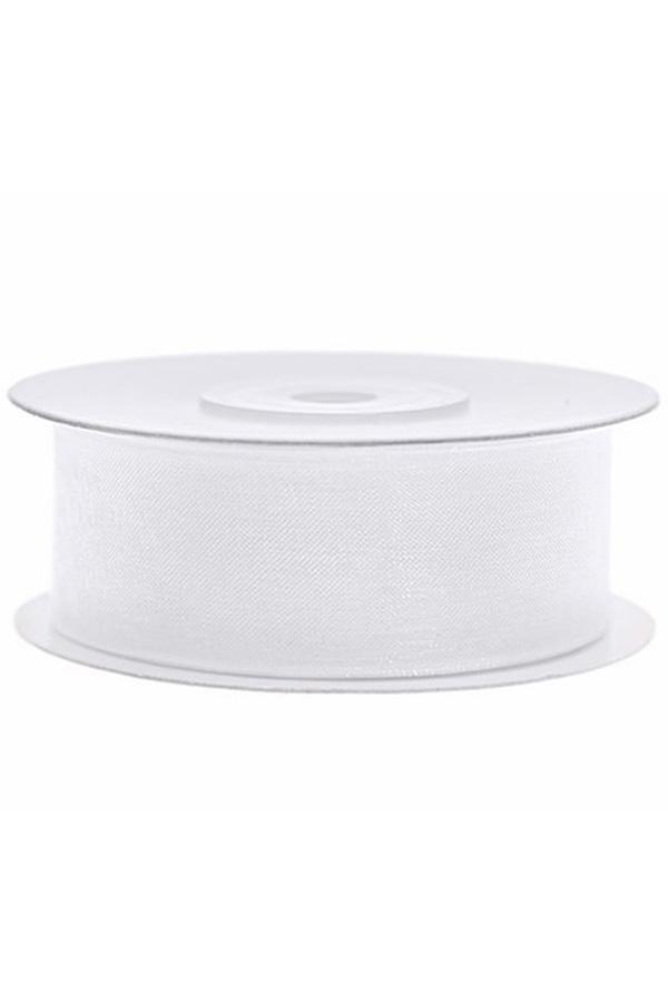 Satin Ribbon lint 25 mm , rol 25 meter kleur: Wit-0
