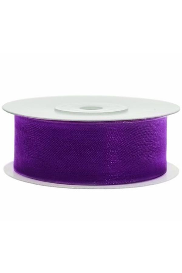Satin Ribbon lint 25 mm , rol 25 meter kleur: Paars-0