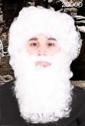 Maxi baard wit (kabouter/kerstman)-0