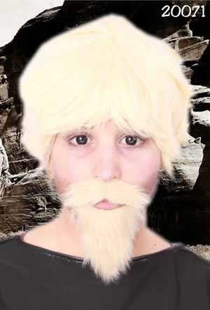 Snor + baard professor blond-0