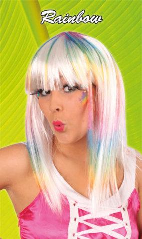 Pruik Dip-dye Rainbow-0