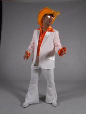 70s kostuum wit-0