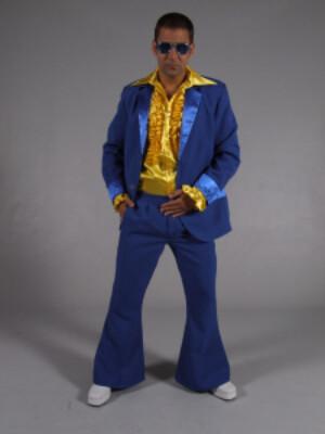 70s kostuum kobalt blauw-0