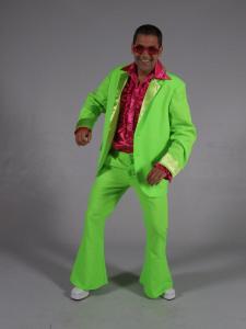 70s kostuum fluor groen-0