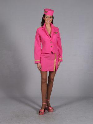 Stewardes 3-delig pink-0