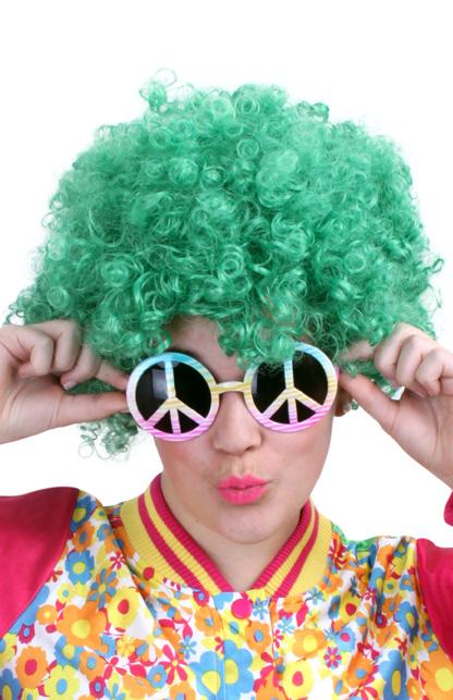 Pruik hippy groen-0
