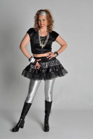 80s rok zwart-0