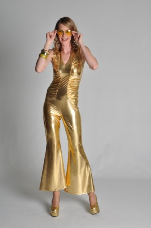 Catsuit 70s style goud-0
