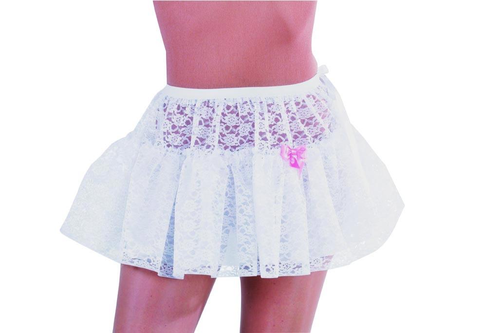 Petticoat kort kant wit-0