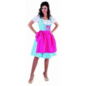 Dirndl jurkje lichtblauw / roze