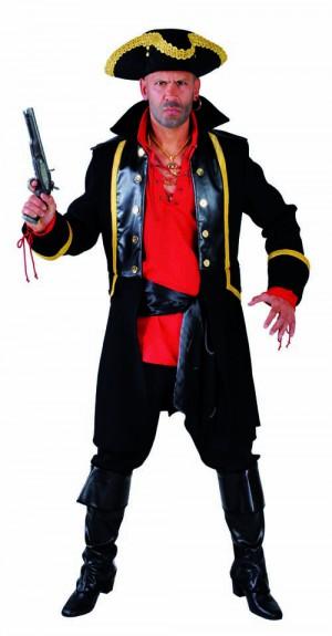 Piratenmantel los zwart-0