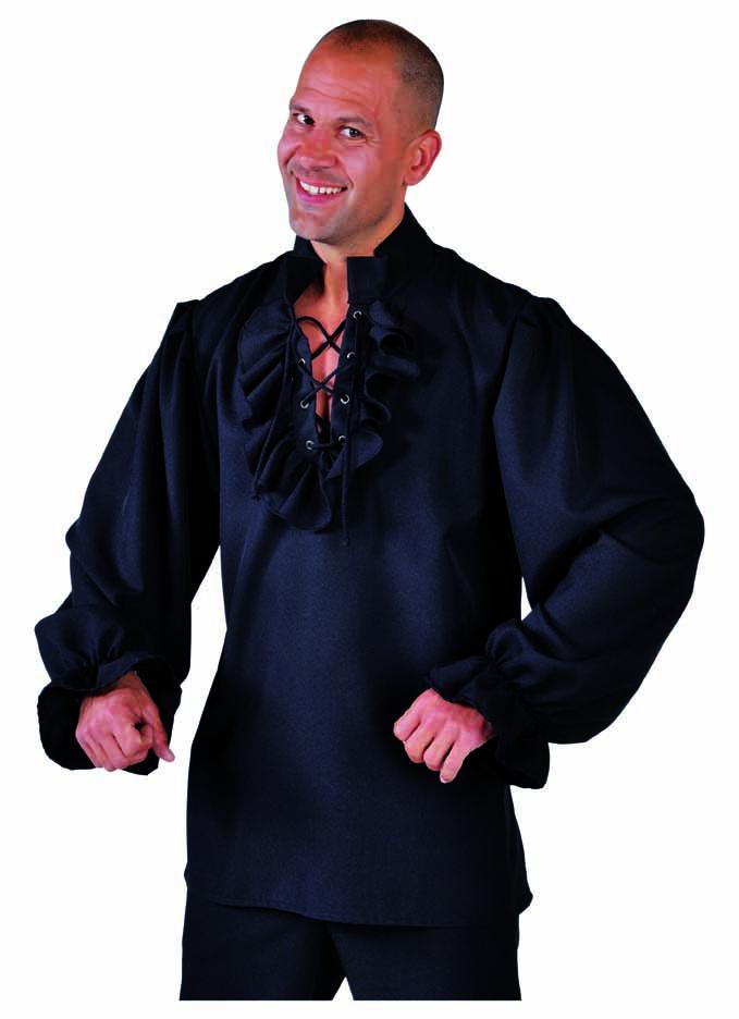 Hemd piraat zwart-0