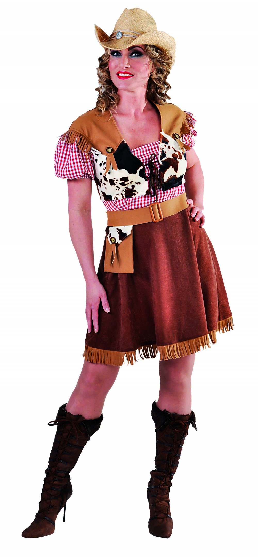 Cowgirl met ruiten blousje-0