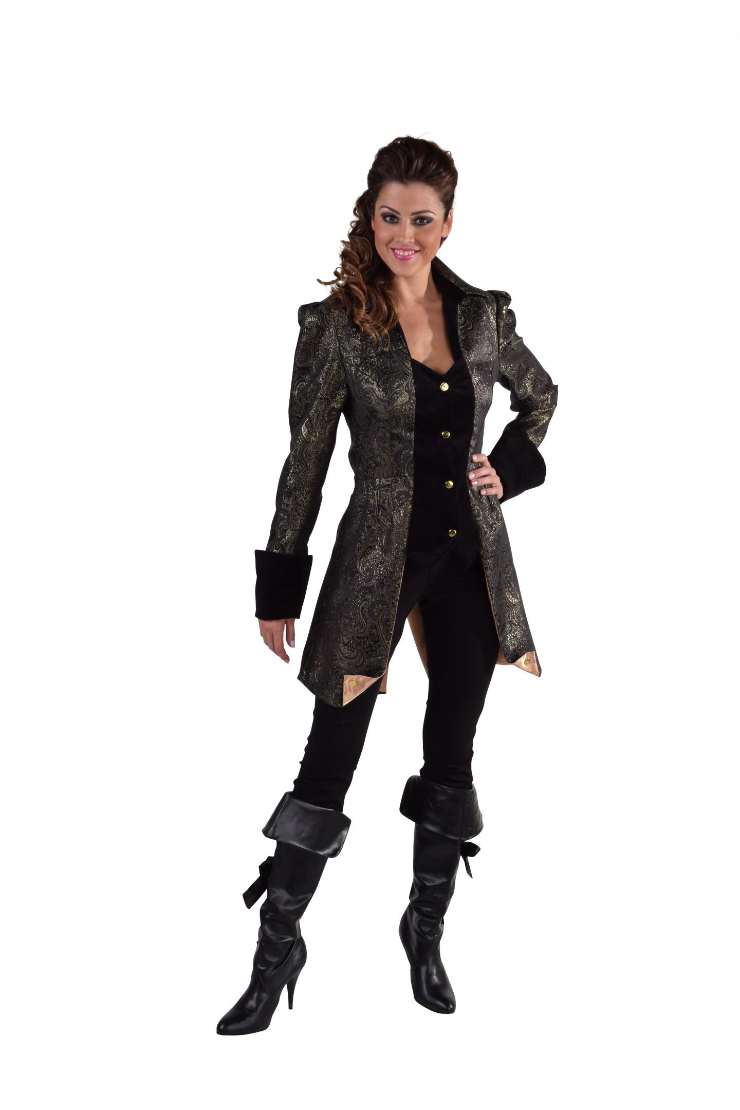 Mantel brokaat, luxe zwart-0