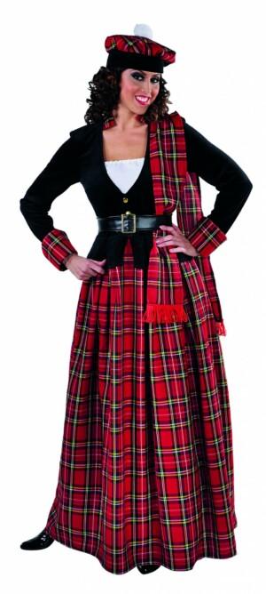 Schotse jurk lang-0
