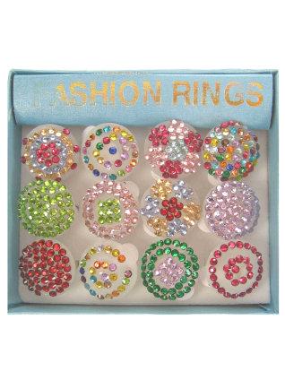 Ringen met strass + licht-0